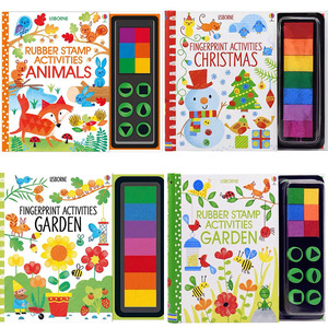 Children Fingerprinting Books with Rubber Stamps Ink Pad kids Activities Doodling Book Animal Garden Kindergarten DIY Craft Toy(China)