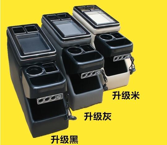 Supérieur de Multifonctionnel de voiture console boîte, accoudoir boîte de rangement avec USB, led lumière pour Mazda 8, biante, Toyota NOAH, VOXY70, 80,