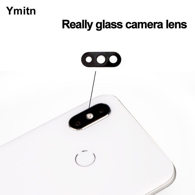 2PCS Ymitn New Back Rear HD <font><b>Camera</b></font> <font><b>Glass</b></font> Lens Cover with Adhesive Replacement For <font><b>Xiaomi</b></font> <font><b>8</b></font> Mi8 <font><b>Mi</b></font> <font><b>8</b></font> M8 image