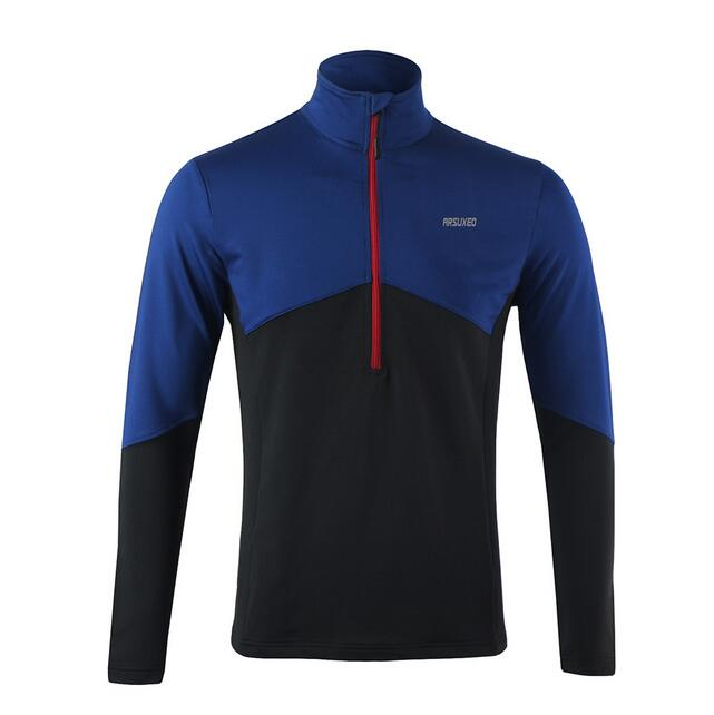 ARSUXEO Men 39 s Long Sleeve Run Top Men Running T Shirts Active Long Sleeves Quick Dry Training Jersey Sports Clothing in Cycling Jerseys from Sports amp Entertainment