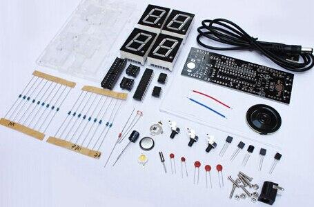 electronic diy kit Digital clock DIY making kit 51 Single chip with case