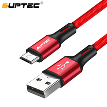 SUPTEC Micro USB Cable 2.4A Fast Charging Microusb Charger Cord For Samsung Gala