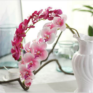 NieNie 10 Heads 72cm artificial flower Phalaenopsis latex silicon real touch big orchid orchidee Wedding Home Decoration