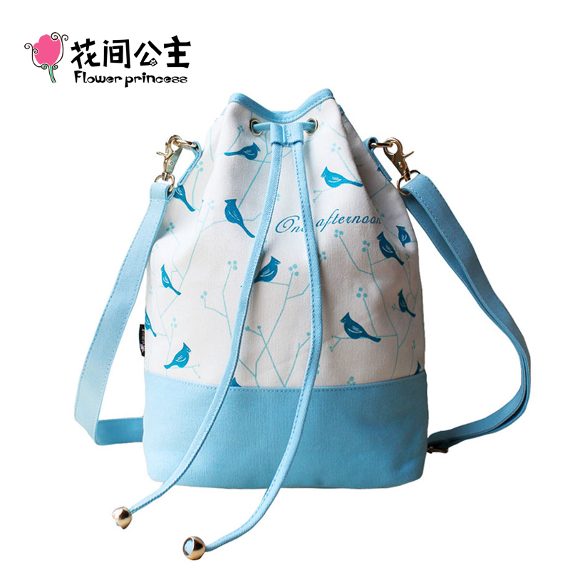 Canvas Bucket Bag Teenage Girls Drawstring Shoulder Bags Ladies Original Crossbody Bag Sac A Main