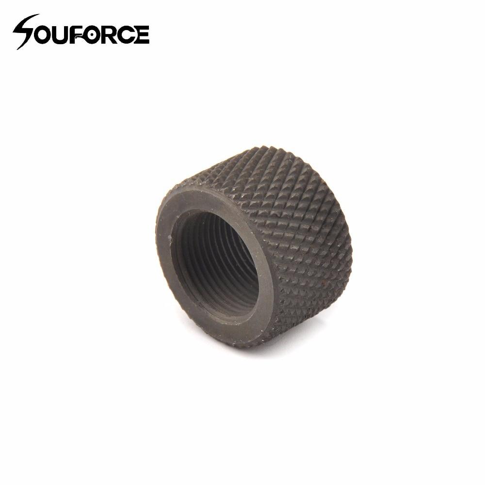 Sizes black steel thread protector caps muzzle