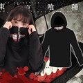 Women Tokyo Ghoul Hoodies With Zip Up Mask New 2017 Kaneki Ken Sasaki Haise Hooded Sweatshirts Ladies Anime Printed Hoody