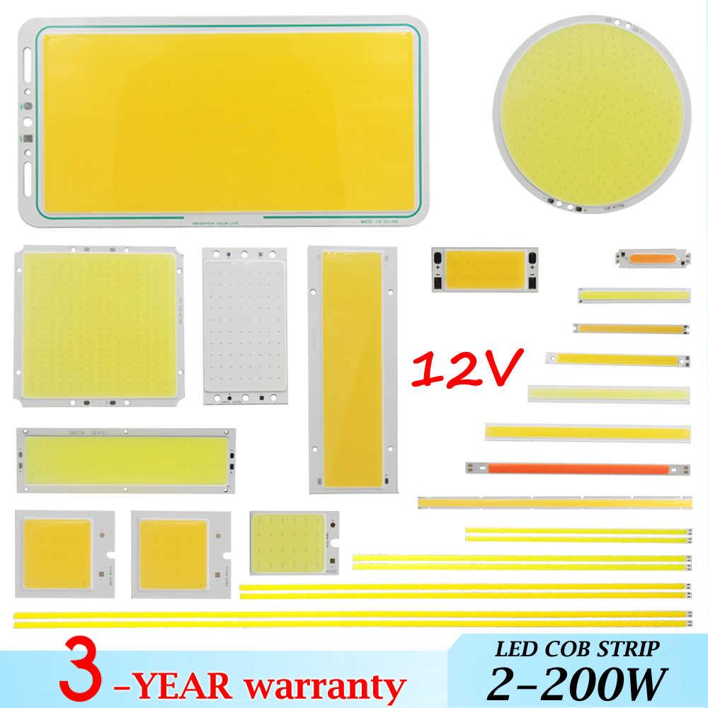 Новогодняя большая рекламная акция микс DC 12 В 2 Вт-200 Вт СИД cob полоса лампы светоизлучающий диод красочный cob для автомобильных ламп cob светодиодные полосы чип