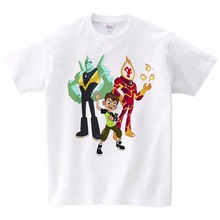 Boys T Shirts Ben 10 Protector of Earth T-Shirts Clothing Cartoon Short Sleeved Shirt Top Tees Children