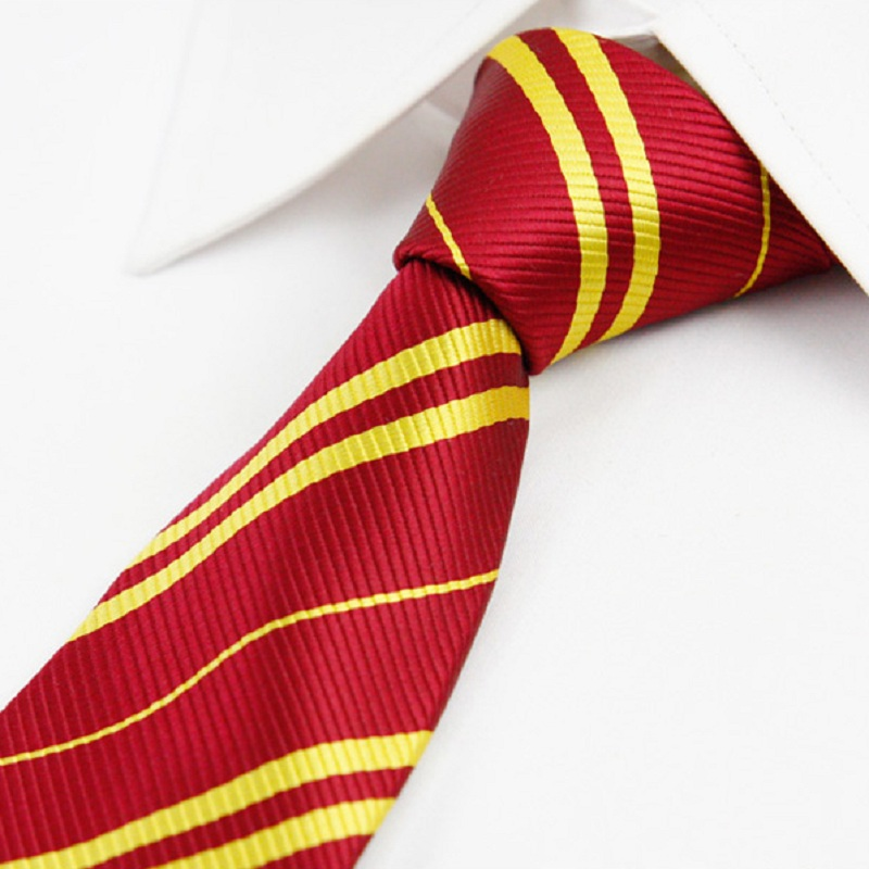 College Boys Stripe Red Neck Ties Navy Yellow Green Slim Tie For Men