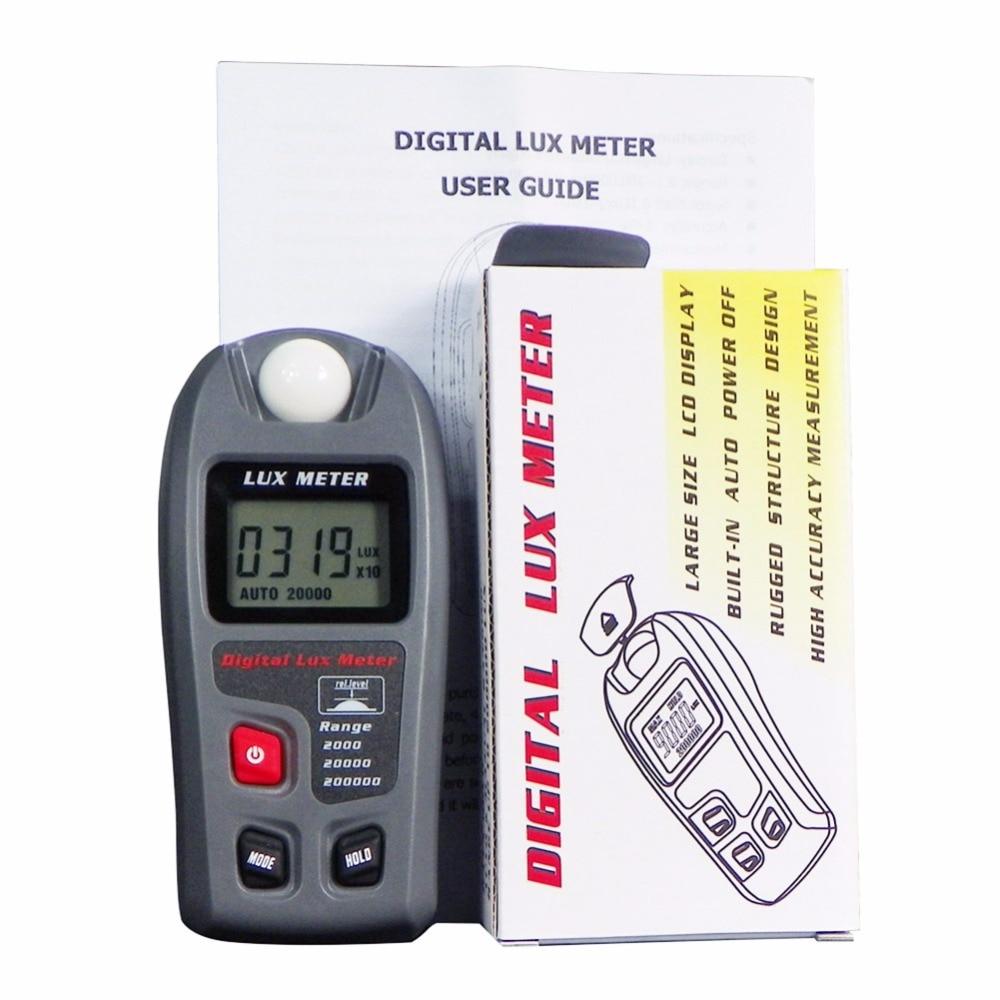 Range: 0.1~200,000 Lux and 0.01~20,000 Fc Digital Lux Meter,MT-30 Digital Luxmeter LCD Display Light Meter Environmental Testing Illuminometer