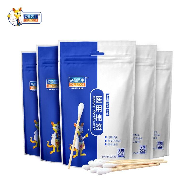 100Pcs Disposable Cotton Swab Medical Cure Health Individual Home Cotton Soft Swab Stick