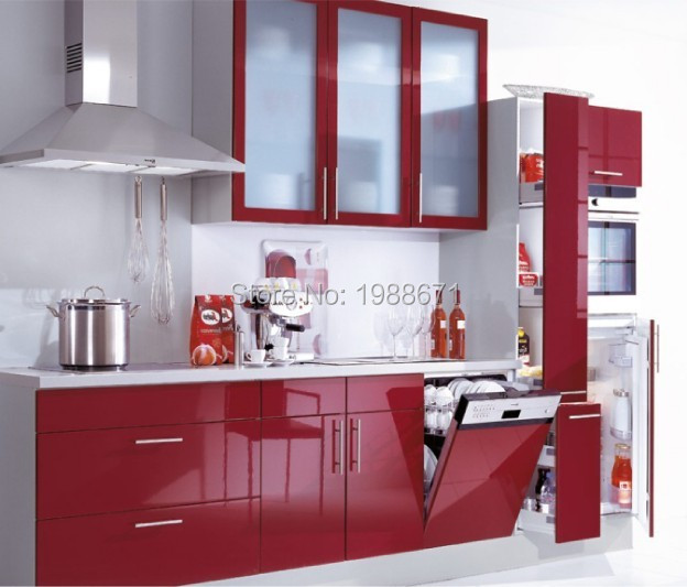 acrylic kitchen cabinets wall tiles red lacquer cabinet painting non wood colorful