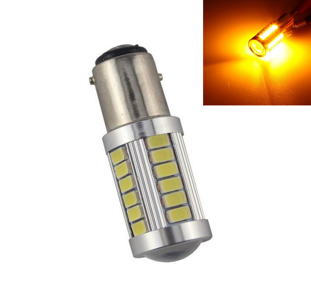 CYAN SOIL BAY Amber Yellow Orange 1157 BAY15D P21/5W 33-5730 33SMD LED Brake Turn Signal Rear Light Bulb 12V 24V cyan soil bay amber yellow orange 1157 bay15d p21 5w 33 5730 33smd led brake turn signal rear light bulb 12v 24v