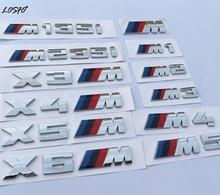 Losfo спортивный автомобиль M Logo Fender сбоку Гриль эмблемы ABS Наклейки для M3 M5 E46 E36 E39 E30 E60 e90 F30 F10 E53 X3 X5 X6