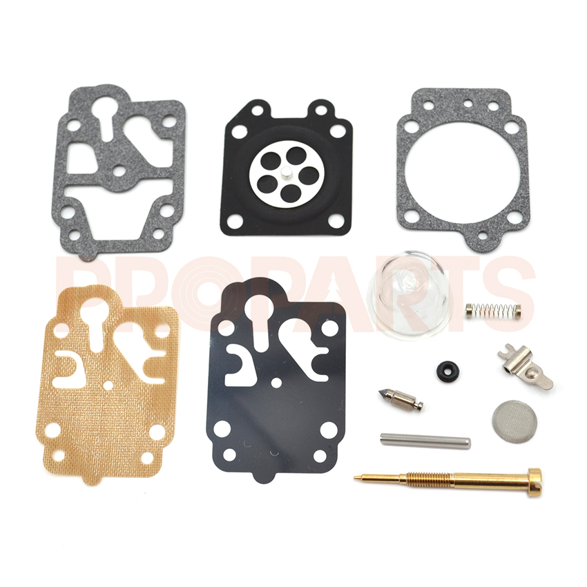 3SET Brush cutter carburetor Gasket kit and primer bulb needle 40-5/44F-5 34F 36F 139F GX35 grass trimmer carburetor repair kit 3set brush cutter carburetor gasket kit and primer bulb needle 40 5 44f 5 34f 36f 139f gx35 grass trimmer carburetor repair kit