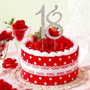 Image 2 - Diamante ריינסטון מס 15/16/18/21 עוגת טופר עבור 15th 16th 18th 21th יום הולדת יום נישואים מסיבת עוגת קישוט