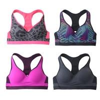 Quick Dry Camo Sports Bra Women Summer Seamless Rims Sports Brassiere Yoga Fitness Padded Running Bra