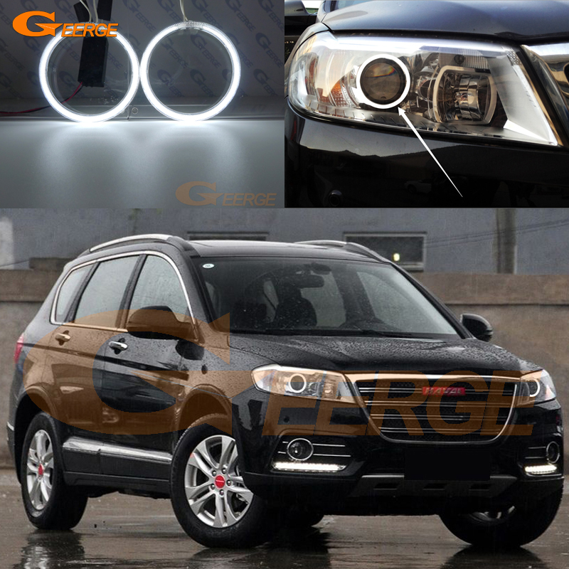 For Great Wall Haval H6 Sport 2013 2014 2015 Excellent Ultra bright illumination CCFL Angel Eyes kit Halo Ring