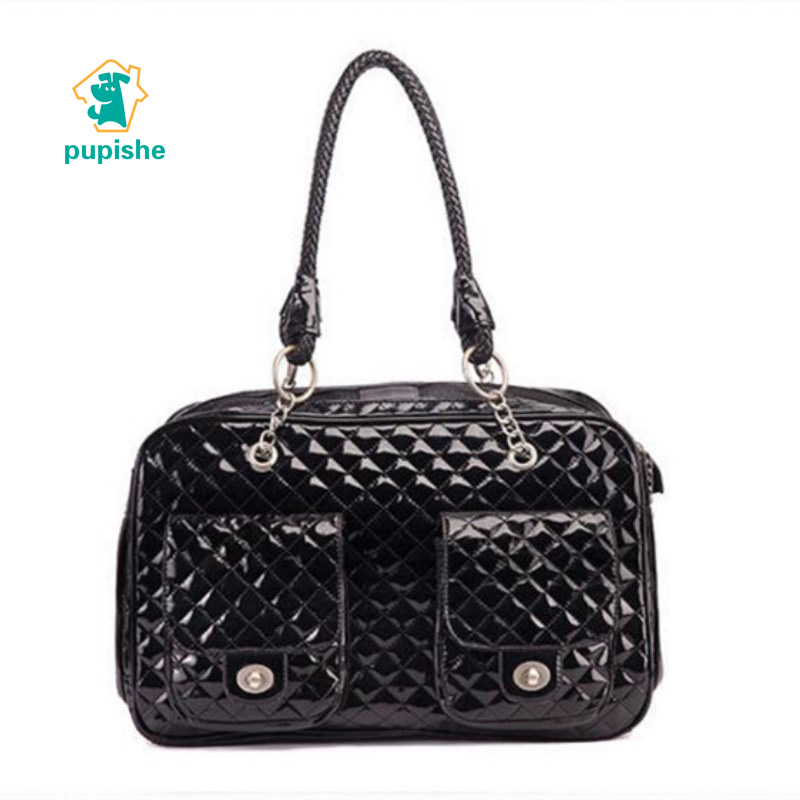 PUPISHE Fashion Pet Carrier Tote Around Town Pet Carrier Portable Dog Handbag Dog Purse for Outdoor