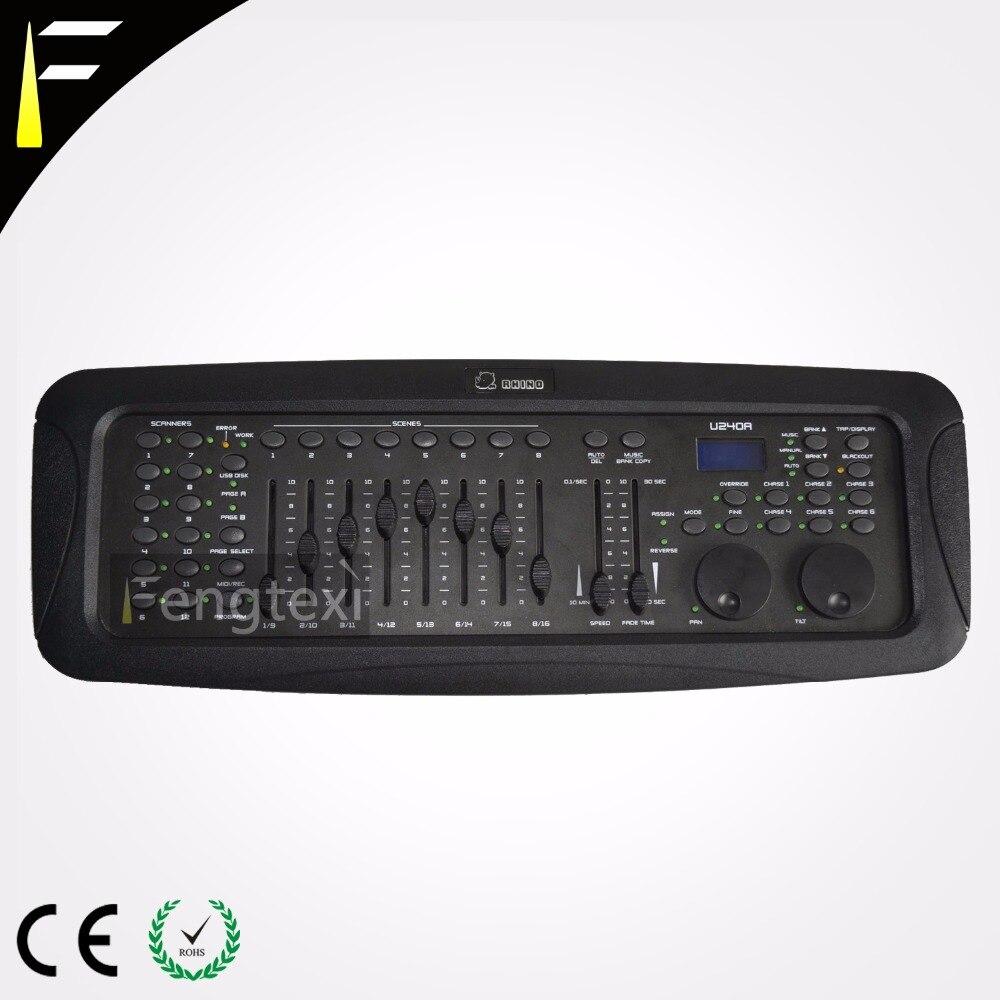 rinoceronte mestre dmx controlador dmx 240 console com programaveis roda compacta console para dj disco
