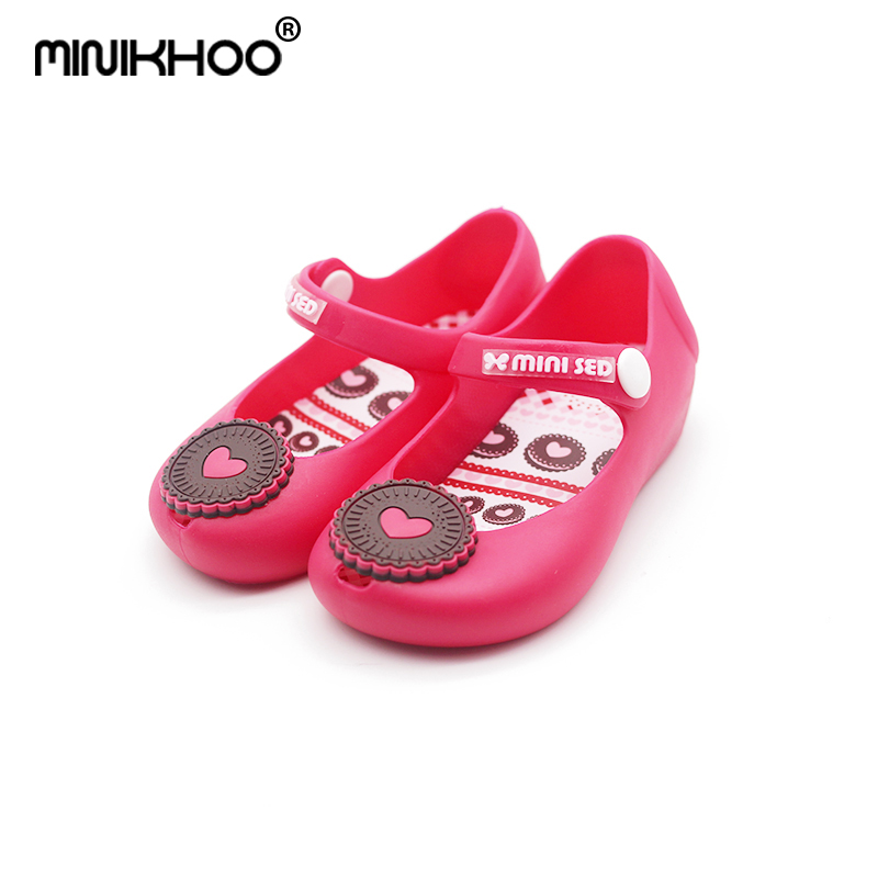 Mini Melissa Brand Cookies Girl Jelly Sandals Non-slip Baby Sandals 4-6Years Old Soft Shoes Baby MINI Sandals High Quality