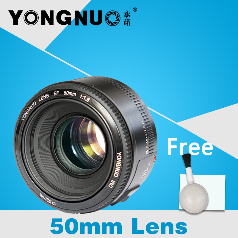 YONGNUO YN 50mm Lens fixed focus lens EF 50mm F/1.8 AF/MF Large Aperture Auto Focus Lens For Canon camera