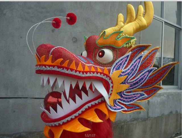 red chinese dragon head chinese dragon dance prop festival supplies