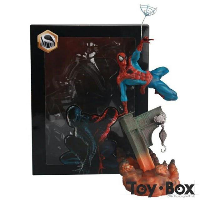 Homem Aranha filme Preto Spiderman Peter Parker Tobey Maguire Dos Desenhos Animados Toy PVC Action Figure Modelo Boneca de Presente