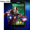For Philips Xenium V387 Tempered Glass Original 9H Protective Case Film Explosion-proof Screen Protector for Philips V387