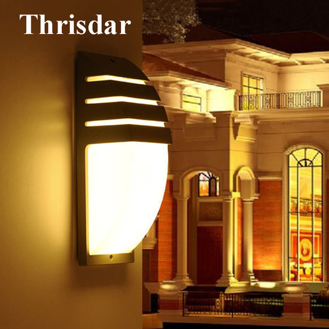 Thrisdar 6W 20W Waterproof LED Wall lamp Outdoor Garden Villa Porch ...