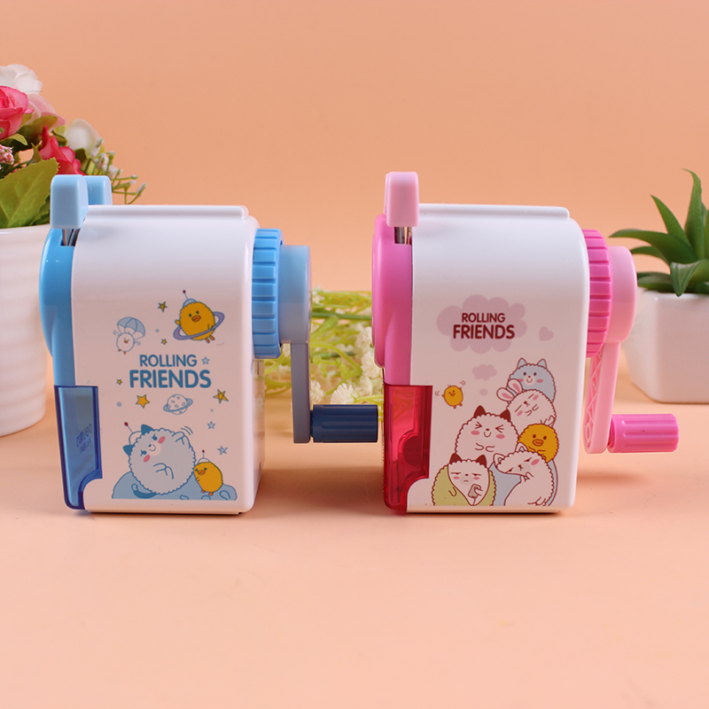 6 pcs/Lot Cute mechanical pencil sharpener Cartoon mini sharpeners for pencils Stationery School supplies A6764 new arrival deli sweet house children pencil sharpeners 0724 cute cartoon students mechanical pencils writing supplies blue