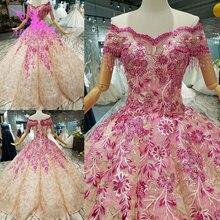 AIJINGYU שמלות כלה רשמיות די עם שרוולים קוטור 2021 2020 כדורי אופנתי Gowning שמלת תחרה חתונה שמלה