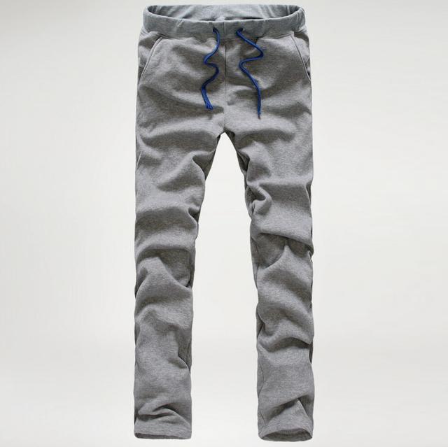 Los hombres flojos Ocasionales de los Pantalones Hombres Pantalones Multi Del Bolsillo del color Sólido En General de Hombres Aire Libre joggers Pantalones MQ511