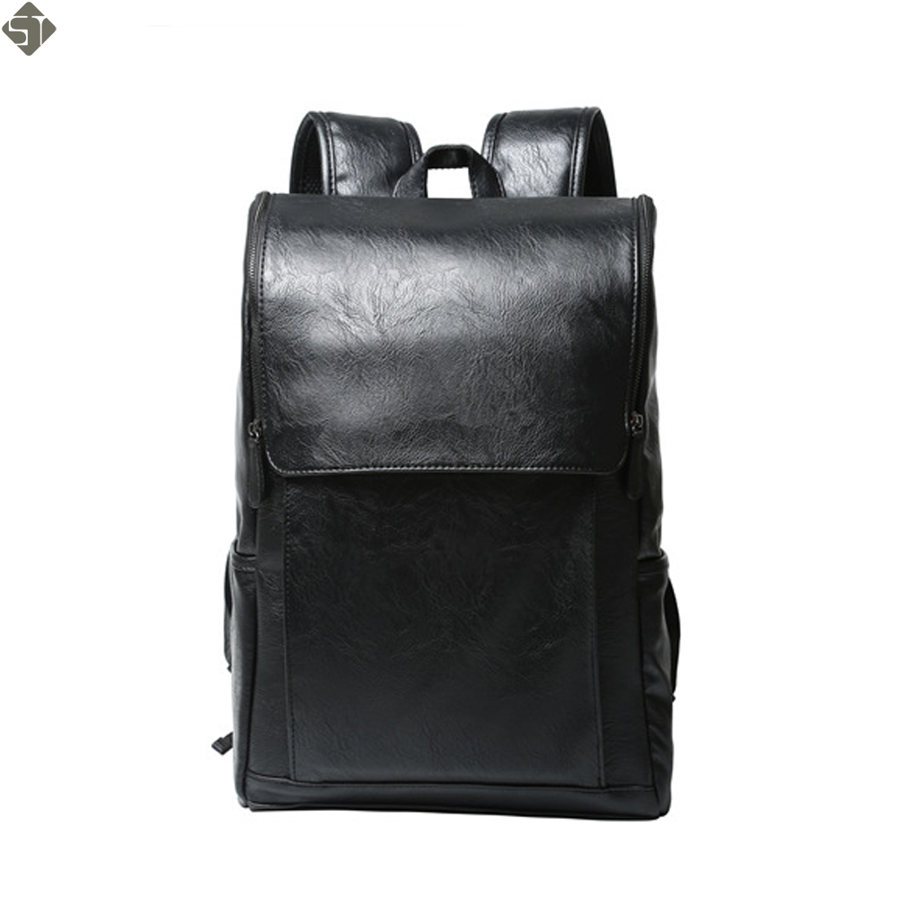 e49a0813ddf3 FUSHAN Brand Preppy Style Leather School Backpack Bag For College Simple  Design Men Casual Daypacks mochila male New