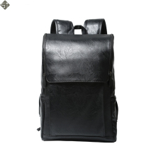 FUSHAN Brand Preppy Style Leather School Backpack Bag For College Simple Design Men Casual Daypacks mochila male New