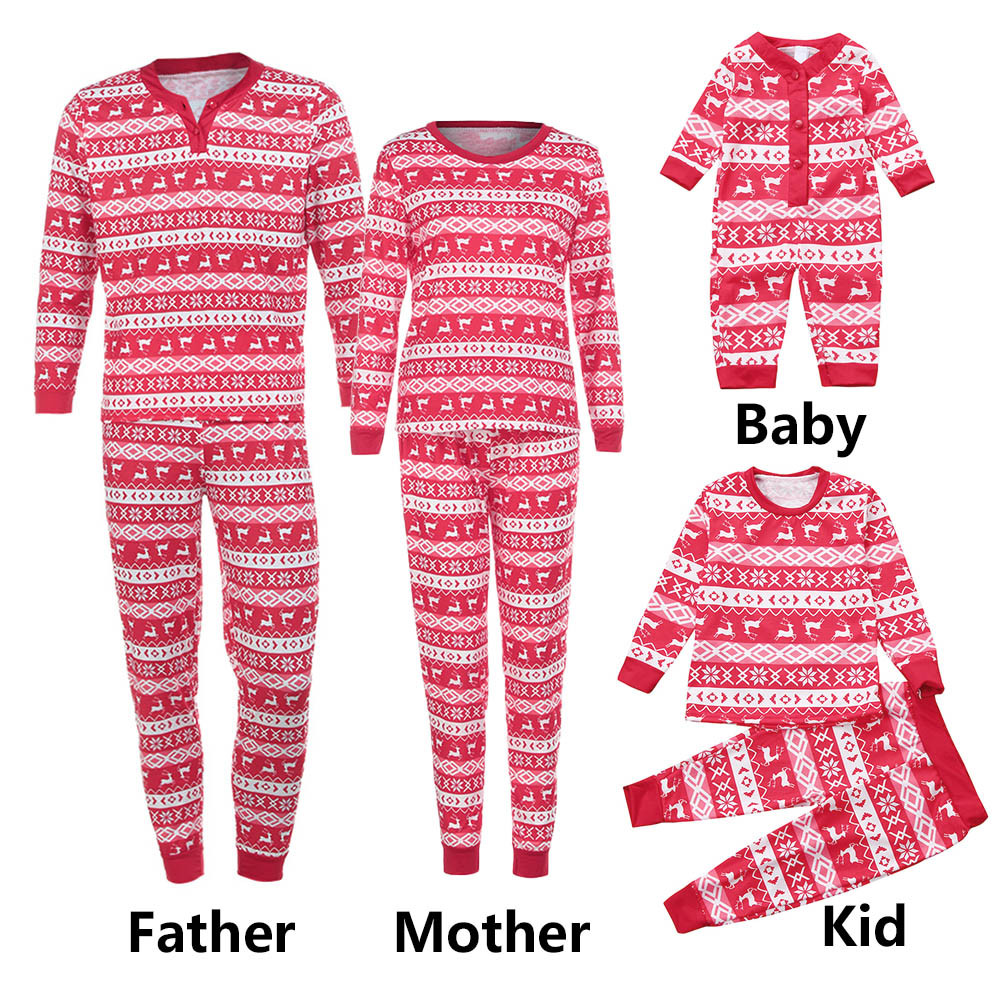 f594d94a44da Detail Feedback Questions about New Newborn Baby Clothes Baby Rompers  Infantil Boy Girl Deer Printed Cartoon Red Pajamas Jumpsuit Christmas  Clothes ...