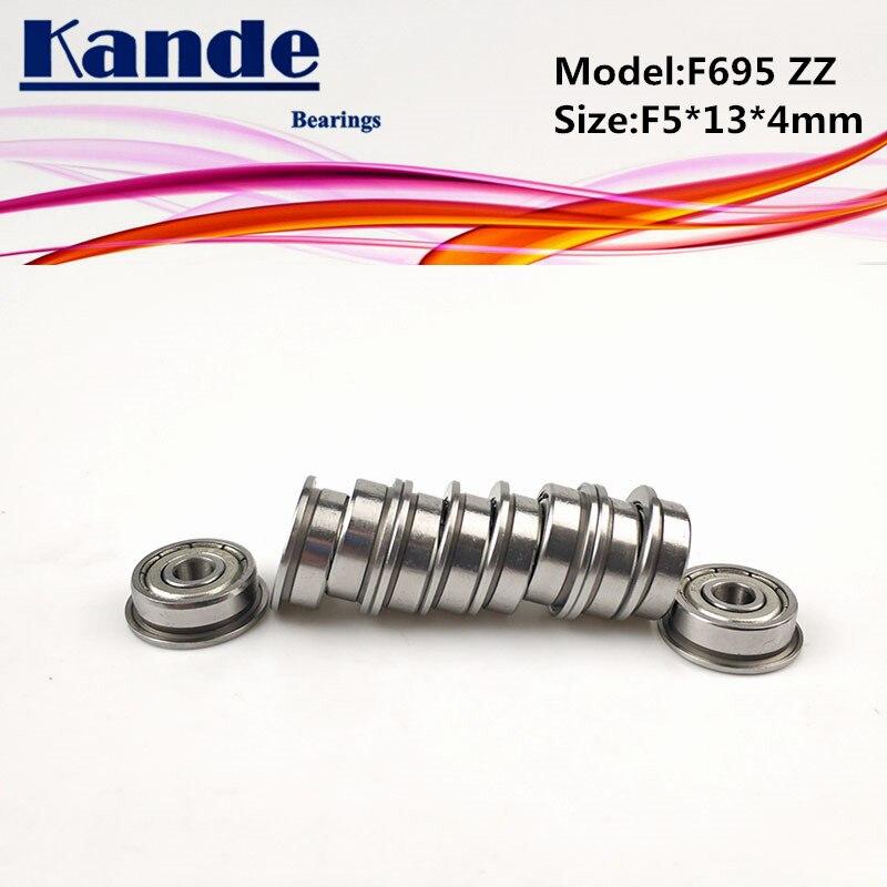 Kande Bearings F695ZZ 10pcs ABEC-1 F695 ZZ  F695-2Z Miniature Deep Groove Ball Bearing F5*13*4mm 695 F695