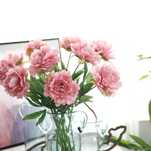 1 Bouquet 10pcs Big Fower Artificial Peony Silk Flowers Wedding Party Home Decor colorful