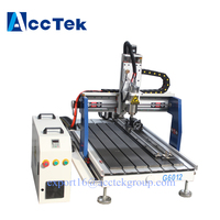 Hot sale ! cnc 6040 6090 6012 2.2KW 4 axis CNC router wood carving machine USB Mach3 control/DSP control system