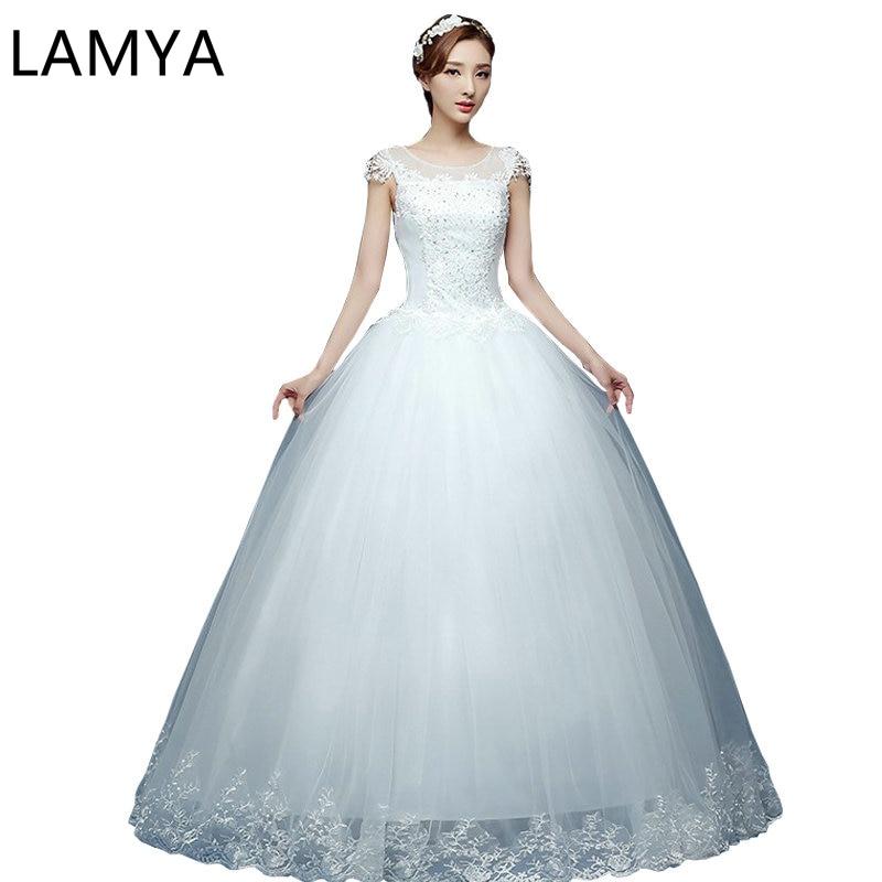 Lace Bridal Ball Gown Wed Dress Floor Length Bottom Summer Gown Bride Dress Glitter Wedding Dress