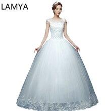 Lace Bridal Ball Gown Wed Dress Floor Length Bottom Summer Bride glitter wedding dress