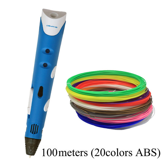 DEWANG Factory 3D Printer Pen 3D Printing Pen Kids Drawing Pen Free ABS Filament 100 200 Meters 3 D Pen Model
