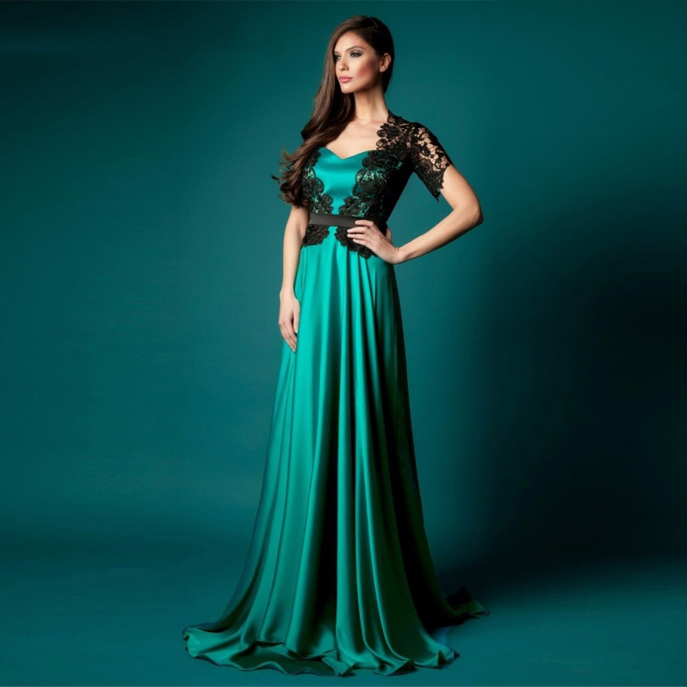 Abiti da cerimonia donna Emerald Green Formal Dress Elegant Evening ...