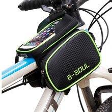 Bicycle Bag Rainproof Touch Screen Phone Top Tube Bag MTB Road Bike Frame Front Saddle Bag & Pannier Bike Accessories стоимость
