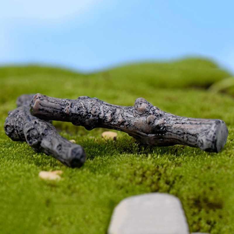 Árbol seco ramas tronco Artificial Mini Jardín de hadas miniatura DIY terrario accesorios suculentas Micro decoración de paisaje