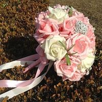Love Forever Korean Style Wedding Photo Decorative Flowers Sweet Elegant Style Artificial Rose Elegant Bride Hand Bouquets