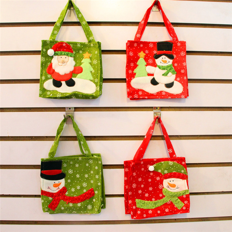 Craft Supplies Christmas Part - 15: LumiParty Christmas Candy Bags Xmas Santa Claus Gift Bags Navidad Snowman  Candy Gift Bags Natal Craft Supplies Christmas Gifts