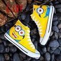 E-LOV 26 Специальные Galaxy & Кролик Картина Конструкции Ручной Росписью Холст Обувь Персонализированные Взрослых Повседневная Обувь Милые Туфли На Платформе