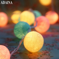 8M 35 Cotton Ball Christmas Fairy String Lights Home Decoration Fiestas Lamp Garland Strip Lighting Wedding