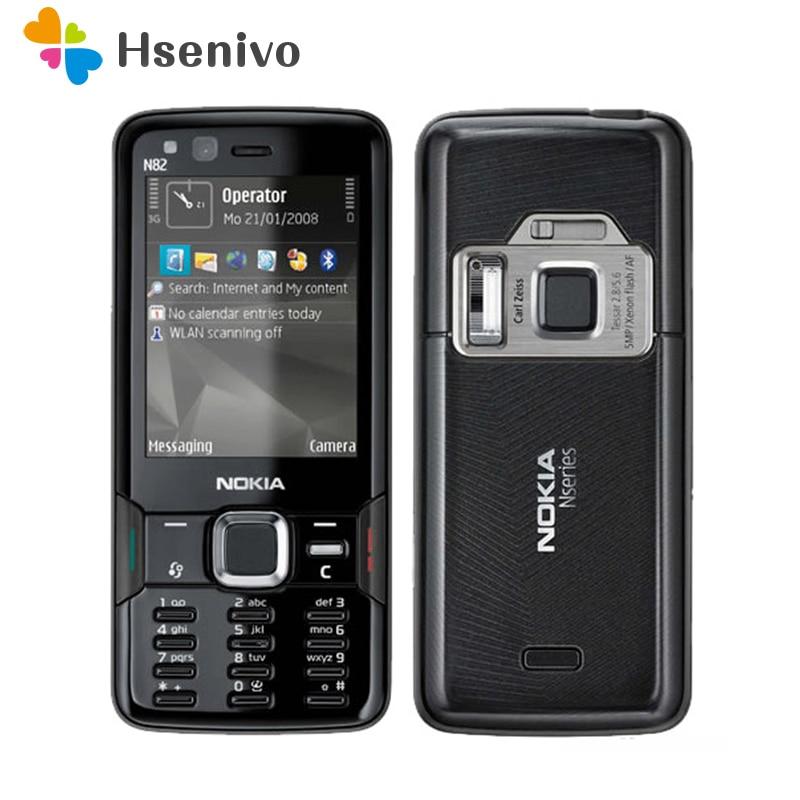 N82 Unlocked 100% Original Nokia N82 GSM 3G network WIFI 5MP camera FM 2.4 inch Mobile Phone 1 Year Warranty Free shipping